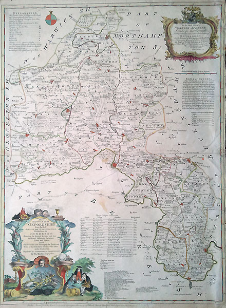 18th Century Map Of Oxfordshire By Thomas Kitchin 1764